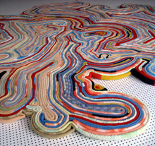 Colorful floor rug by Tejo Remy