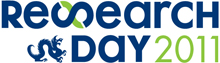 Blue and Green Research Day Logo 2011