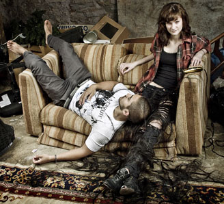 Photo of Boy and Girl on Couch