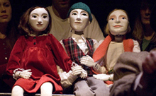 Photograph of Puppets from the play It's a Long Christmas Ride Home