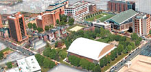 A illustration of the future Drexel campus