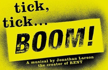 tick tick... BOOM! Yellow and black logo