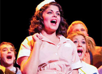 Theatre Performers Singing in Waitress Uniforms