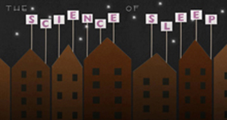 """the science of sleep"" written over brown buildings"