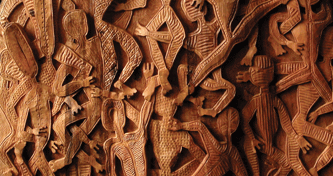 Chinese carved wood