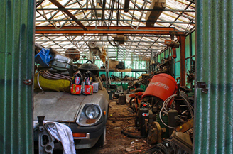 Winning high school photograph of junk yard