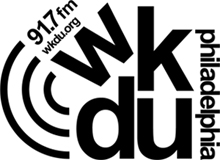 Black and White WKDU  logo