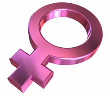 Shiny pink female symbol