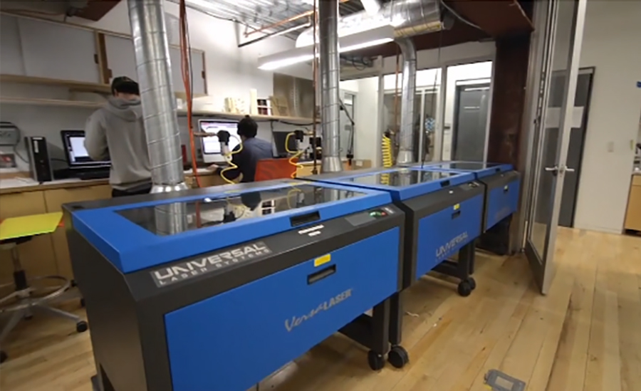 Laser cutters in Hybrid Making Lab