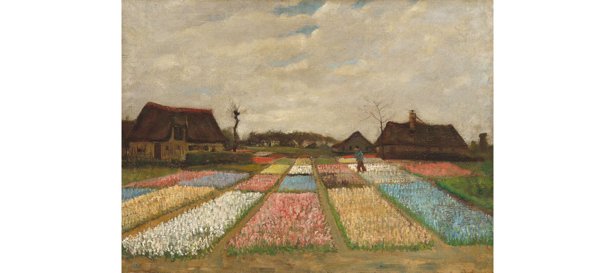 Flower Beds in Holland by Vincent Van Gogh c. 1883. National Gallery of Art