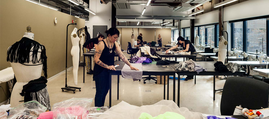 Fashion Design studio space in URBN Center