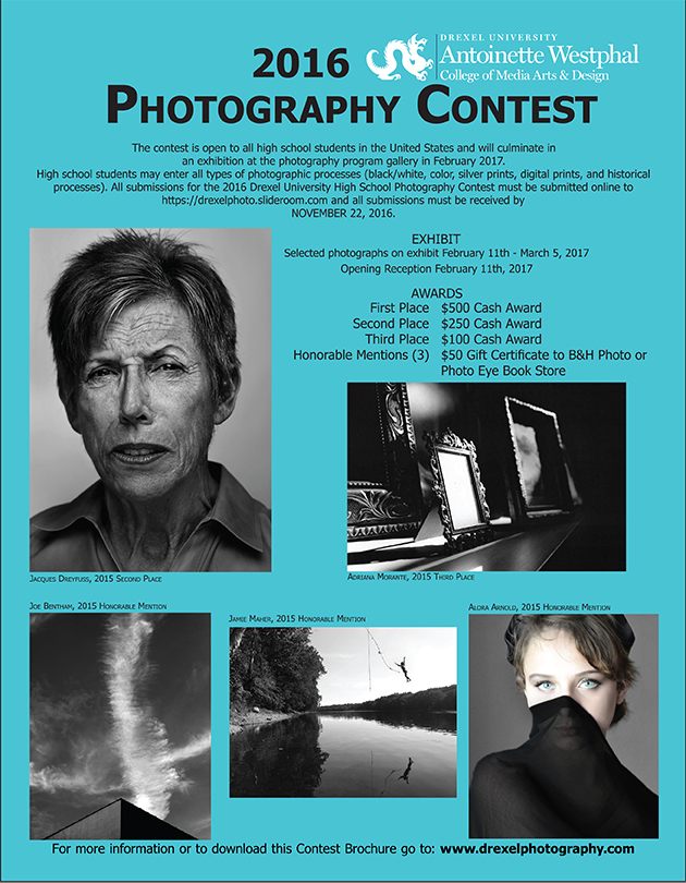 2016 Drexel Photography High School Contest Awards Info