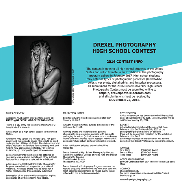 2016 Drexel Photography High School Contest Rules and Info