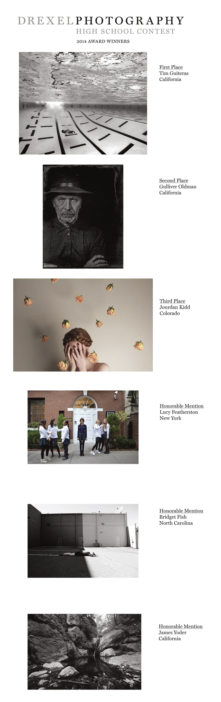 Drexel Photography High School Contest 2014 Award Winners