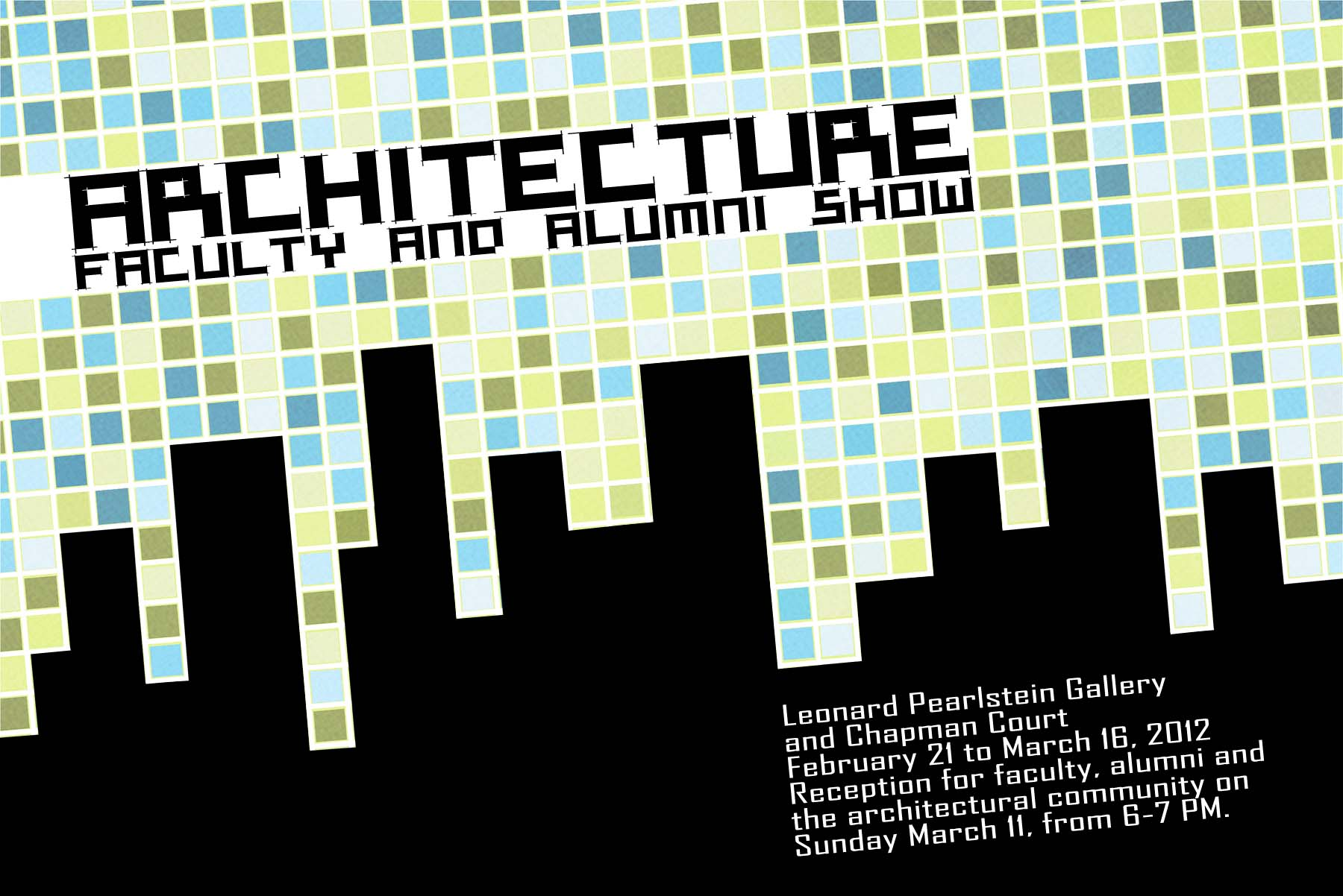 Postcard for Faculty and Alumni Exhibit